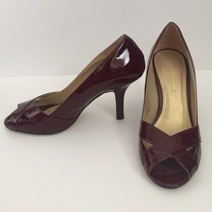 Banana Republic Dark Red Crisscross Heels Size 9